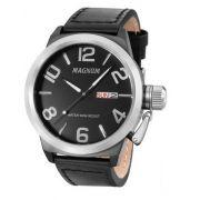 Relógio Magnum MA33399T Calendario Pulseira Couro