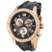Relógio Magnum MA33504K Calendario Cronografo Pulseira Couro