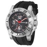 Relógio Magnum MA34361T Calendario Cronografo Pulseira Silicone