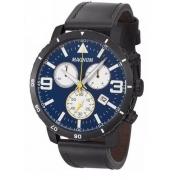 Relógio Magnum MA34932A Calendario Cronografo Pulseira Couro