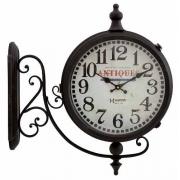 Relógio Parede Estação Herweg 6428 034 Duas Faces Aço Gigante