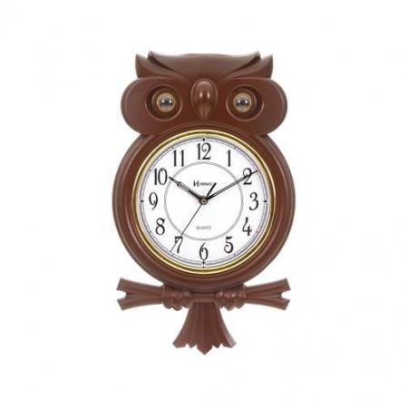 Relógio Parede Herweg 530006 084 Coruja Pendulo Toque Musical