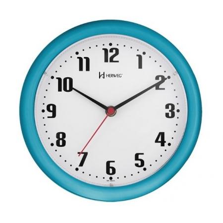 Relógio Parede Herweg 6102 267 Azul 22cm Quartz