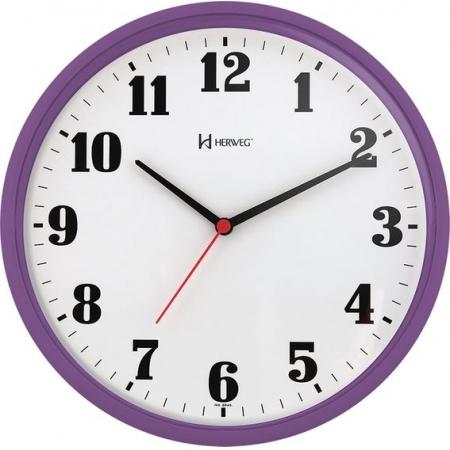 Relógio Parede Herweg 6126 282 Redondo 26cm Violeta