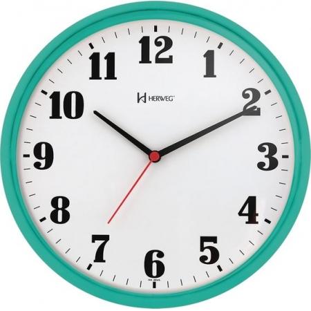 Relógio Parede Herweg 6126 283 Redondo 26cm Verde