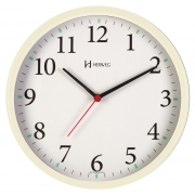 Relógio Parede Herweg 6126s 032 Marfim Silencioso Sem Tic Tac