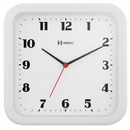 Relógio Parede Herweg 6145 021 Quadrado Branco