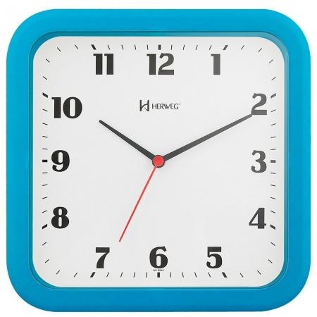Relógio Parede Herweg 6145 267 Quadrado Azul
