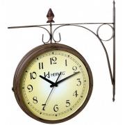Relógio Parede Herweg 6358 999 Dupla Face Tipo Estação Natural