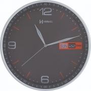 Relógio Parede Herweg 6415 024 Cinza Calendario 30cm
