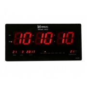 Relógio Parede Herweg 6464 034 Digital Termometro Calendario