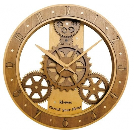 Relógio Parede Herweg 6486 296 Madeira 30cm