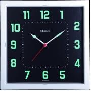 Relógio Parede Herweg 660036 283 Quadrado Fluorescente