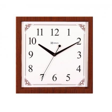 Relógio Parede Herweg 660093 325 Quadrado 29cm Jacaranda