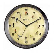 Relógio Parede Herweg 6658 273 Canto Passaros Brasileiros