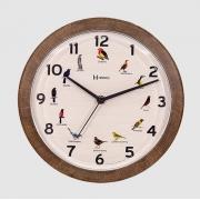 Relógio Parede Herweg 6658 323 Canto Passaros Brasileiros