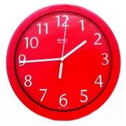 Relógio Parede Herweg 6718 044 Aluminio Vermelho 24,5cm