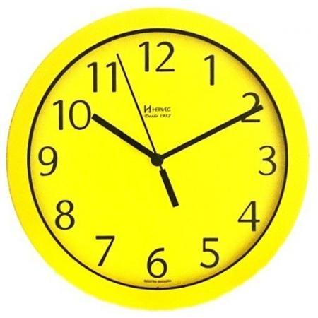 Relógio Parede Herweg 6718 268 Aluminio Amarelo 24,5cm