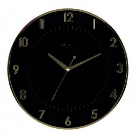 Relógio Parede Herweg 6803 029 Preto Dourado 34cm