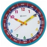 Relógio Parede Herweg Educativo Infantil 6690 267 Azul