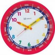 Relógio Parede Herweg Educativo Infantil 6690 269 Vermelho