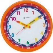 Relógio Parede Herweg Educativo Infantil 6690 270 Laranja