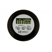 Timer Herweg 3308 034 Contagem Regressiva Alarme Sonoro Preto