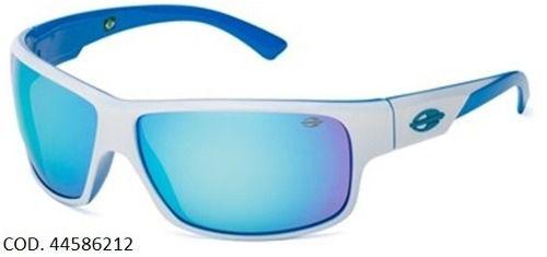 Oculos Solar Mormaii Joaca 2 44586212 Branco Azul Espelhado