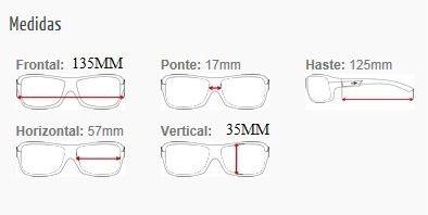 Armação Para Oculos De Grau Mormaii Terral - Cod. 140021057