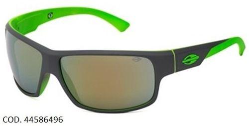 Oculos Solar Mormaii Joaca 2 44586496 Cinza/ Verde - Lente Dourada Flash