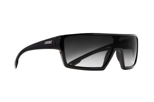 Oculos Solar Evoke Bionic Beta Black Shine Gray Gradient
