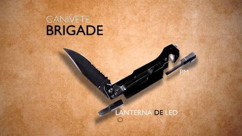 Canivete Mormaii Brigade Pederneira Lanterna Corta Cinto