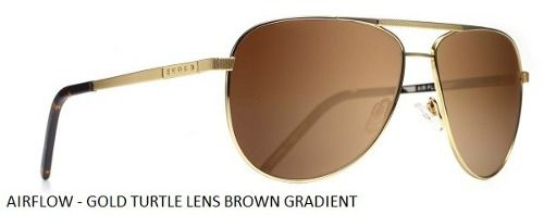 Oculos Solar Evoke Airflow Gold Turtle Brown Gradient