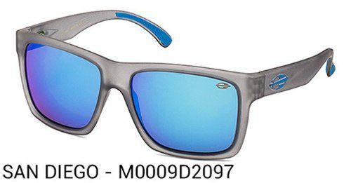 Oculos Solar Mormaii San Diego - Cod. M0009d2097 - Cinza Translucido / Azul - Lente Azul