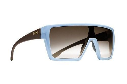 Oculos Evoke Bionic Alfa D04 Blue Temple Brown Matte Brown Total