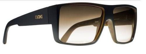 Oculos Solar Evoke The Code Black Wood Gold Brown Gradient