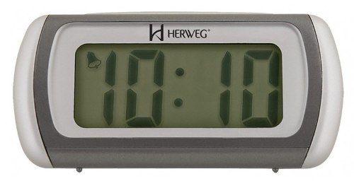 Relógio Digital Mesa Herweg 2916 034  Alarme Luz Led