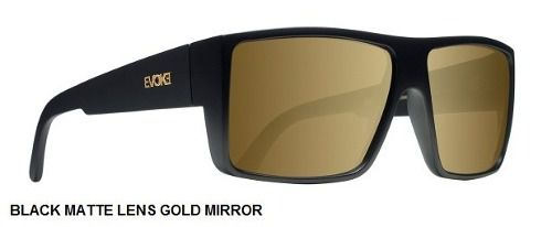 Oculos Solar Evoke The Code Black Matte Gold Gold Mirror