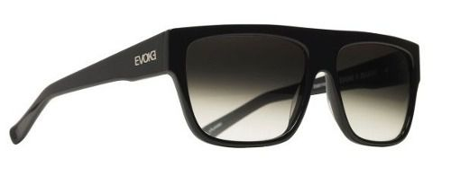 Oculos Evoke Zegon Black Shine Silver Gray Gradient