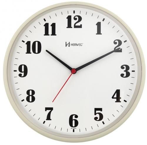 Relógio Parede Herweg 6126 032 Analogico 26cm Marfim