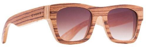 Oculos Solar Evoke Wood 2 Zebra Wood Brown Gradient