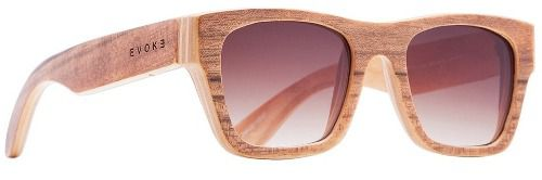 Oculos Solar Evoke Wood 2 Light Walnut Brown Gradient