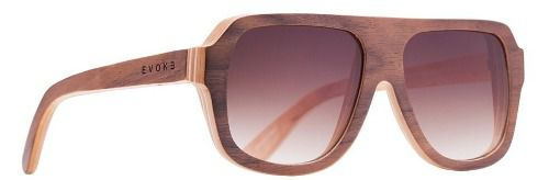 Oculos Solar Evoke Wood 1 Light Walnut Brown Gradient