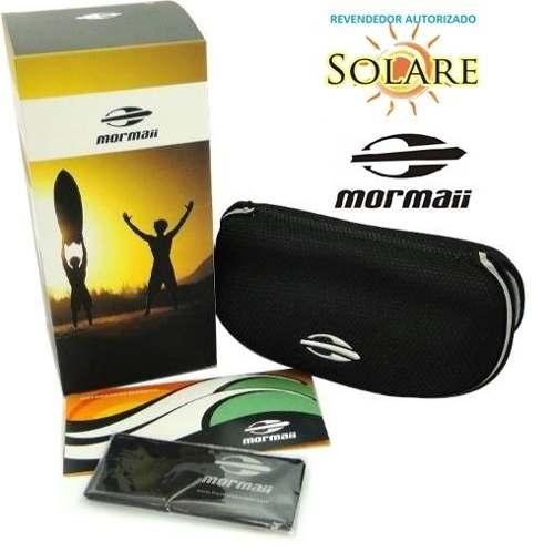 Oculos Solar Mormaii Wave - Cod. 44974809 - PRETO/AZUL - LENTE CINZA ESPELHADO