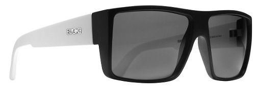 Oculos Sol Evoke The Code A00S Black Temple White Matte Silver Gray Total