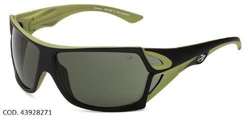 Oculos Sol Mormaii Vulcanus 43928271 Preto Verde Lente Verde