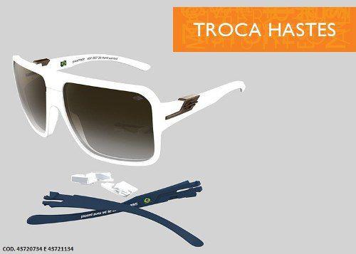 Oculos Sol Mormaii Snapper Troca Hastes - Cod. 43720734 - BRANCO / LENTE MARROM DEGRADÊ