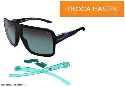Oculos Solar Mormaii Snapper Troca Hastes - Cod. 43722344 - PRETO / LENTE DEGRADÊ