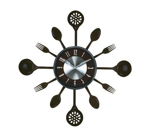 Relógio Parede Herweg 6445 Decorativo Talheres Cozinha