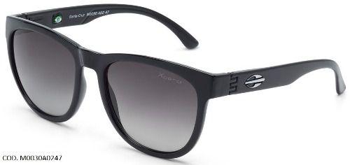 Oculos Solar Mormaii Santa Cruz   M0030a0247 - PRETO - LENTE CINZA POLARIZADO  DEGRADÊ